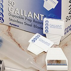 Disposable Gallant Prep Razor, Individually Foil-Packed, 50/Bx