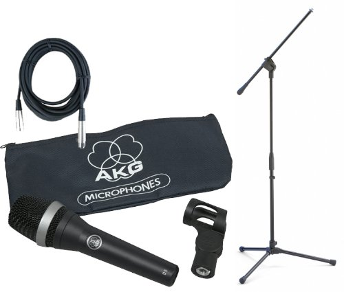Akg D5 Supercardioid Microphone Bundle With Boom Stand And Xlr Cable