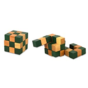 Wooden Magic Cube Puzzles (1 dz) by Rhode Island Novelty