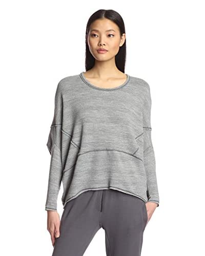 Lola & Sophie Women's Variegated Stripe Dolman Sweater