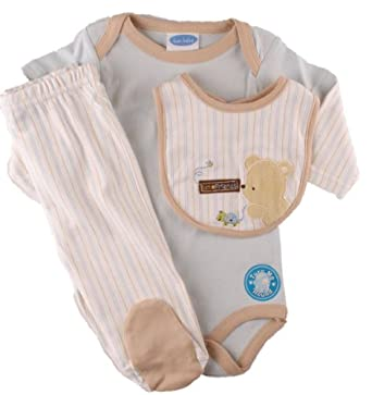 Amazon.com: Bon Bebe Newborn Boys Fall/Winter 3 PC Baby