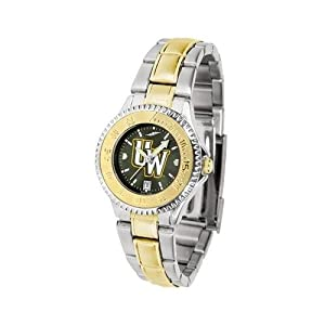 Wyoming Cowboys Competitor AnoChrome Ladies Watch with Two-Tone Band by SunTime