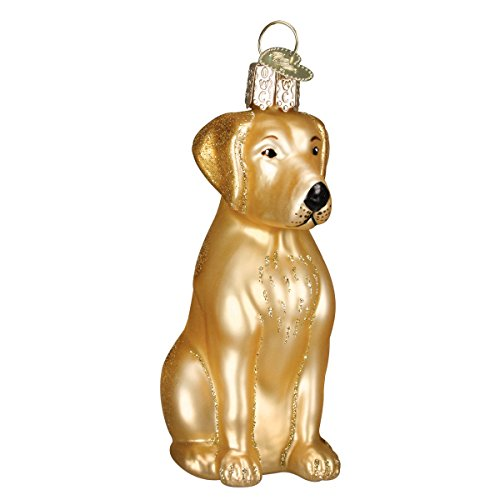 Old World Christmas Yellow Labrador Glass Blown Ornament