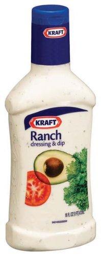Kraft Ranch Dressing & Dip, 16-Ounce Plastic Bottles (Pack of 6)