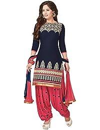Jay Varudi Creation Women Faux Crepe Dress(Women's Clothing Dress For Women Latest Designer Wear Dress Collection...