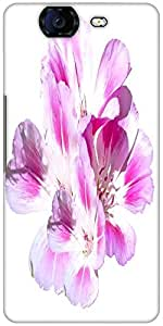 Snoogg Pink Flowers Designer Protective Back Case Cover For Micromax Canvas K...