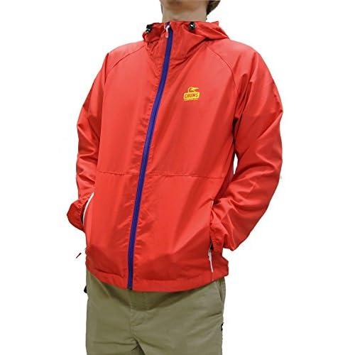 (チャムス) CHUMS ブリーズジャケット メンズ ウインドブレーカー CH04-1001 (Mサイズ, Red)