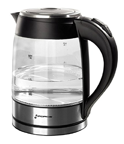 Review GForce GF-P1056-1186 Electric Glass Kettle With Blue LED Light - 1.8L Capacity (Black)