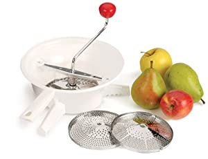 Classic Rotary Style Food Mill with 3 Stainless Steel Blades by RSVP