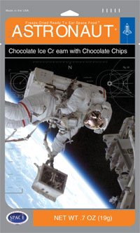 Freezedried astronaut ice cream broken into chunks in an