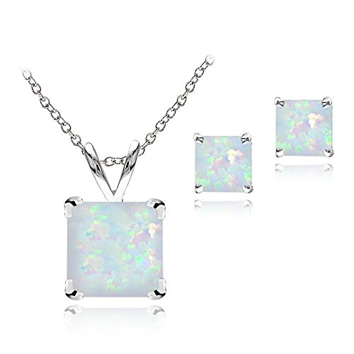 sterling-silver-created-white-opal-square-solitaire-pendant-stud-earring-set
