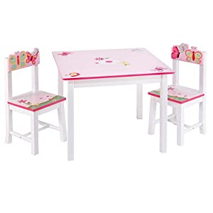 Guidecraft Butterfly Buddies Table and Chairs Set