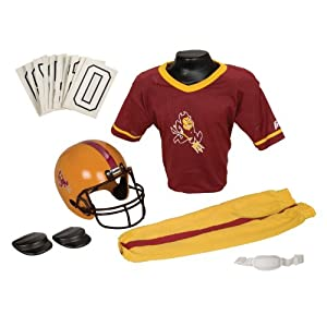 Franklin Sports NCAA Arizona State Sun Devils Deluxe Youth Team Uniform Set, Small