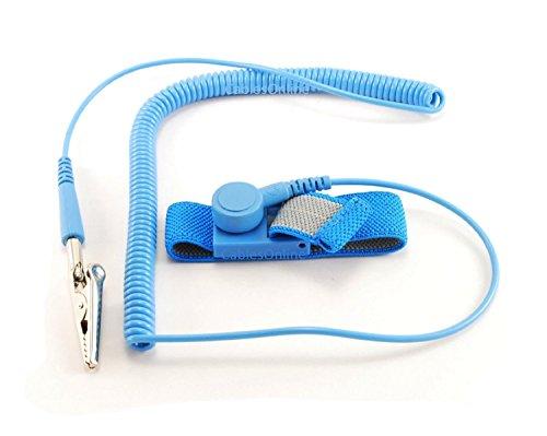 Aussel Light Blue Colore 2m-nastro antistatico Bracciale con messa a terra regolabile di riparazione di manutenzione