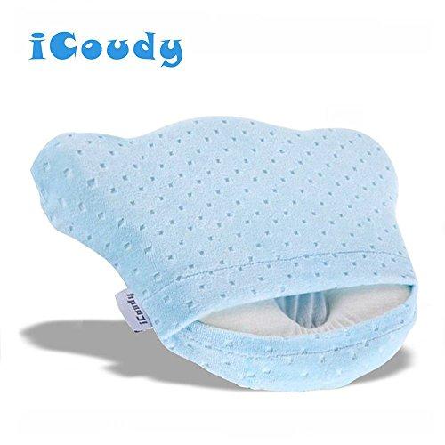 icoudy Kleinkind Kissen verhindert flachen Kopf Unterstützung Baby Kissen, Baby Kissen Memory Foam