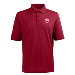 Indiana Hoosiers Cardinal Pique Extra Light Polo Shirt by Antigua