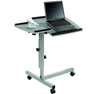 LexMod Angle and Height Adjustable Mobile Laptop Computer Stand & Split Top