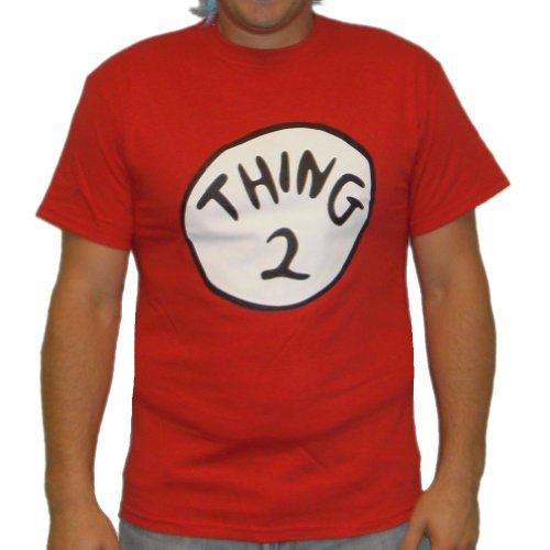 Thing 2 T-Shirt Costume Dr. Seuss Cat In The Hat Womens
