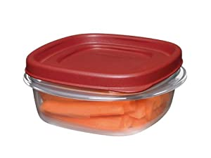 Rubbermaid Easy Find Lid Food Storage Container, Square, 1 1/4-cup (1776401)
