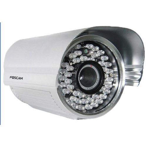 Foscam FI8905E Power Over Ethernet Outdoor IP Camera with 6 mm Lens, Night Vision Up To 30 Meters