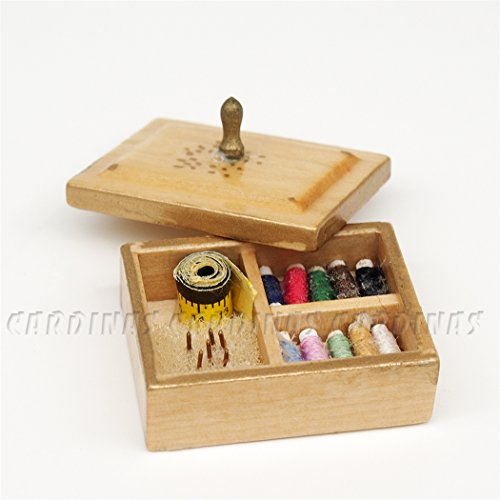odoria-112-miniature-vintage-sewing-box-with-lid-dollhouse-decoration-accessories