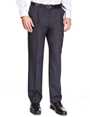 Wool Blend Supercrease® Single Pleat Trousers