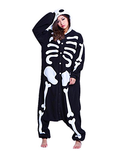 Pajamas Anime Costume Adult Animal Onesie Skeleton Cosplay