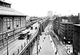 30 x 20 Stretched Canvas Poster Brooklyn Bridge Approach from Manhattan