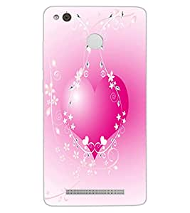 ColourCraft Lovely Heart Design Back Case Cover for XIAOMI REDMI 3X