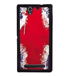 Fuson Premium 2D Back Case Cover Graffiti Deigned Flag With Multi Background Degined For Sony Xperia C4 Dual E5333 E5343 E5363::Sony Xperia C4 E5303 E5306 E5353