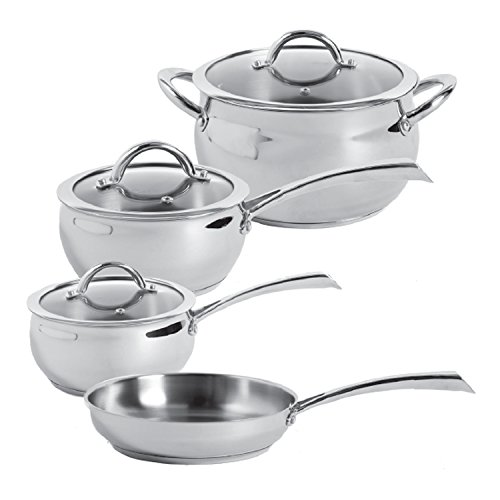 Oster 104392.07 Derrick 7-Piece Stainless Steel Cookware Set, Multi-Size, Stainless Steel (Oster Derrick compare prices)