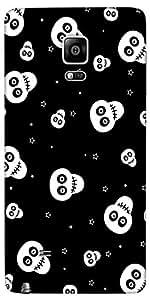 Snoogg Skull Pattern 2437 Designer Protective Back Case Cover For Samsung Gal...