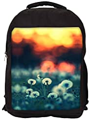 Snoogg Dandelions At Sunset Backpack Rucksack School Travel Unisex Casual Canvas Bag Bookbag Satchel - B0146GKW6K