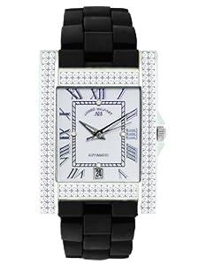 André Belfort 410121 - Reloj analógico de mujer automático con correa de cerámica negra - sumergible a 50 metros