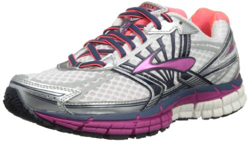 Brooks Womens Adrenaline GTS 14 W D Running Shoes 1201511D581 White/Fuschia/Midnight 10 UK, 44.5 EU, 12 US Wide