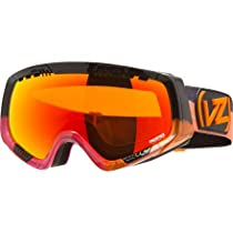 VonZipper Feenom Goggle with Bonus Lens Solar Burst Orange Pink/Fire Chrome, One Size