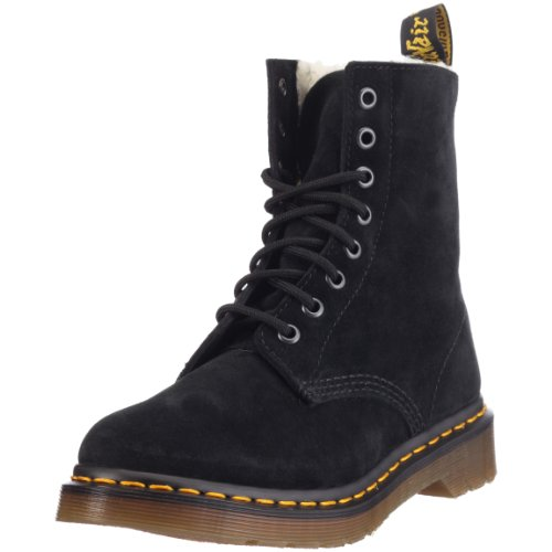 Dr. Martens - Stivali Serena Suede Black, Donna, Nero (Black), 36 (3 uk)