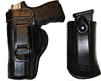 Gun Holster Glock 19 23 32 Defender Laser Pro Carry HD /w Magazine Carrier Right Hand Outside The Waistband Black Leather