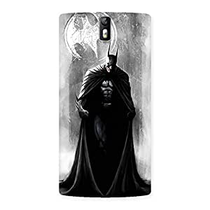 Cute White Moon Knight Multicolor Back Case Cover for One Plus One
