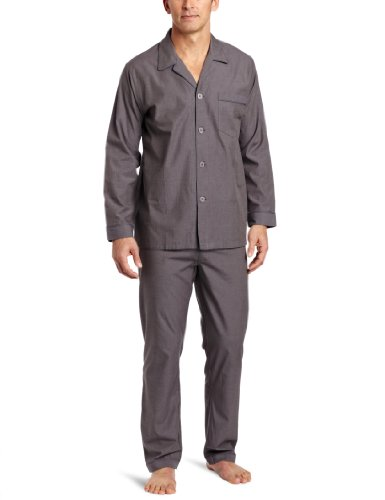 Majestic International Men's Solid Basics Long Sleeve Pajama
