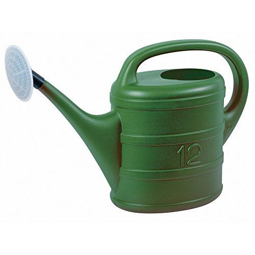 Annaffiatoio plastica verde 12 L con diffusore