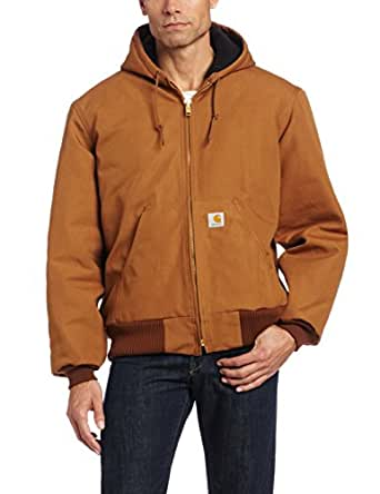 Carhartt Men's  Quilt Flannel Lined Sandstone Active Jacket,Brown,Small
