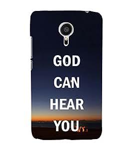 EPICCASE God hears you Mobile Back Case Cover For Meizu MX 5 (Designer Case)