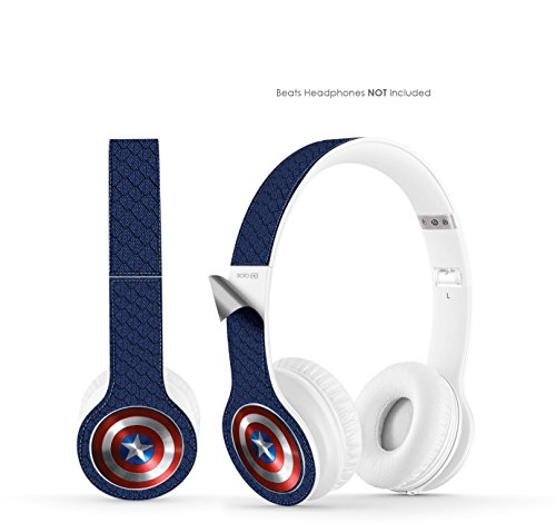 Captain America Vinyl Art Decal Skin (Designed To Fit Beats By Dre Solo Hd Headphones - Headphones Not Included)