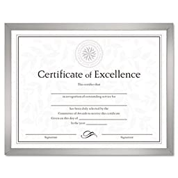 Value U-Channel Document Frame w/Certificates, 8-1/2 x 11, Silver, Sold as 1 Each, 30PACK , Total 30 Each