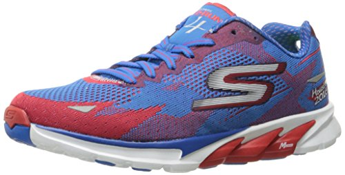 Skechers Performance Women's Go Run 4 Houston 2016 Running Shoe, Red/Blue, 7 M US