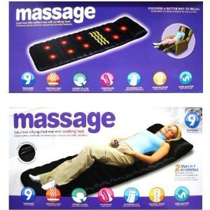 Zuwit Luxurious Silky-Quilted 9 Motor Vibration Massage Mat With Soothing Heat ,Full Body Massage Cushion