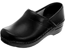Dansko Women\'s Professional Wide Black Box Leather Work 6 B(M) US
