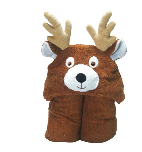 Pickles Nummy Animals 100-Percent Cotton Hooded Towel, Deer, 27X54