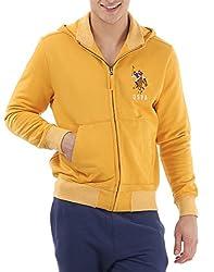 U.S.Polo.Assn. Men's Cotton Sweatshirt (8907259140049_USSS0513_3XL_Honeygold)